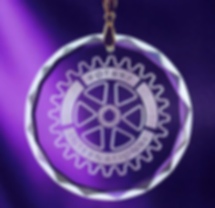 Round Crystal Medal Ornament