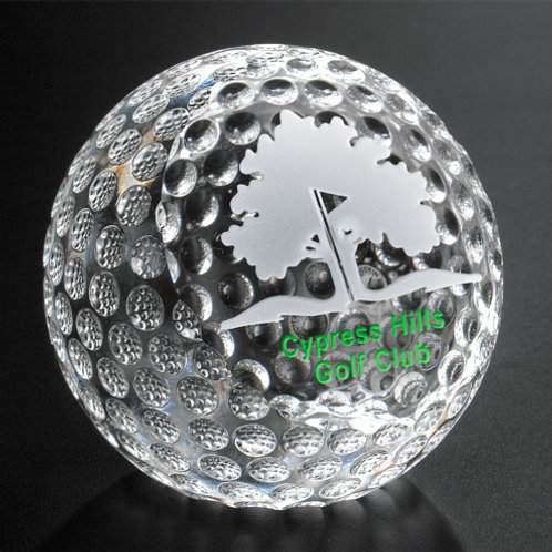 Clipped Golf Ball Paperweight