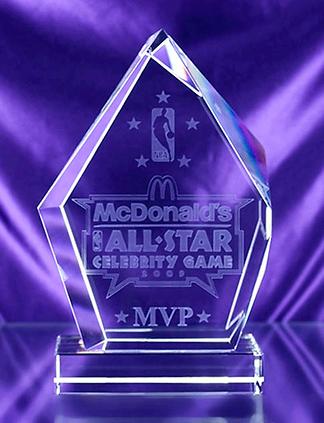 2009 NBA Celebrity All Star Game MVP Trophy
