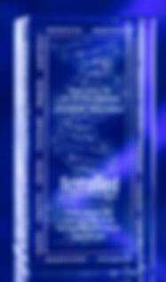 3D Crystal Standard Tower Award