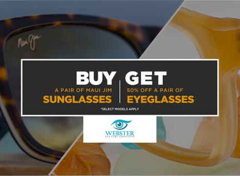 BOGO 50% Off Maui Jim's and Clear Lens Glasses