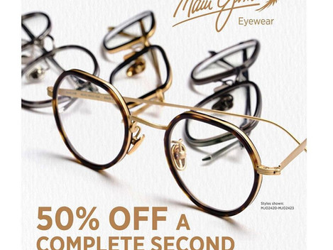BOGO 50% OFF Prescription Maui Jim Sunglasses and Glasses!