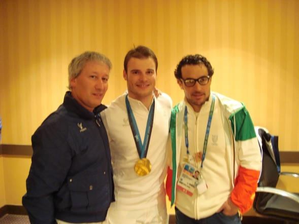 Con Razzoli e Rocca - Vancouver 2010