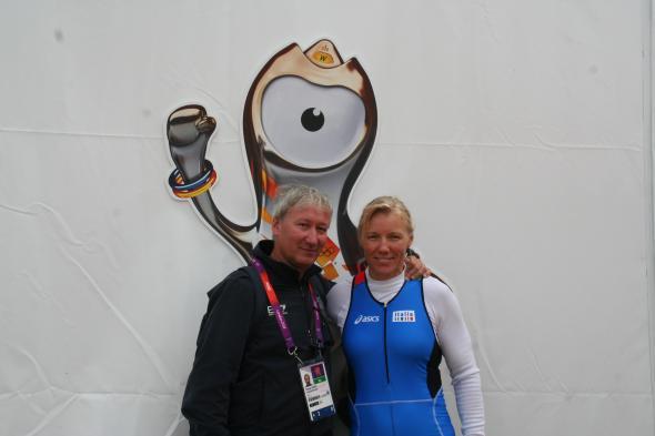 Con Josefa Idem - Londra 2012