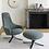Thumbnail: Moa High Back Swivel Chair & Ottoman (Black/Grey)