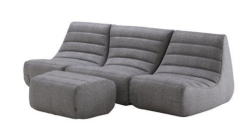 Saparella 3-Seat Sofa & Ottoman