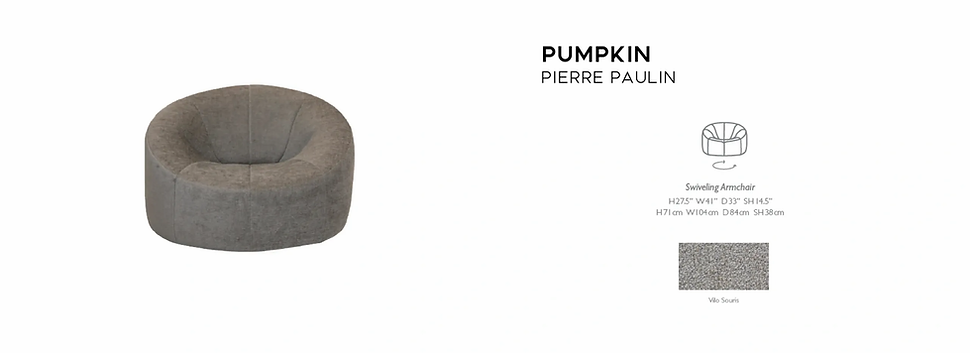 Pumpkin Armchair Pierre Paulin