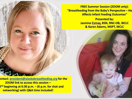 """FREE Presentation: """"Breastfeeding from the Baby's Perspective,"""" June 2, 2021"""