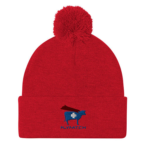 Red FAT Pom-Pom Beanie