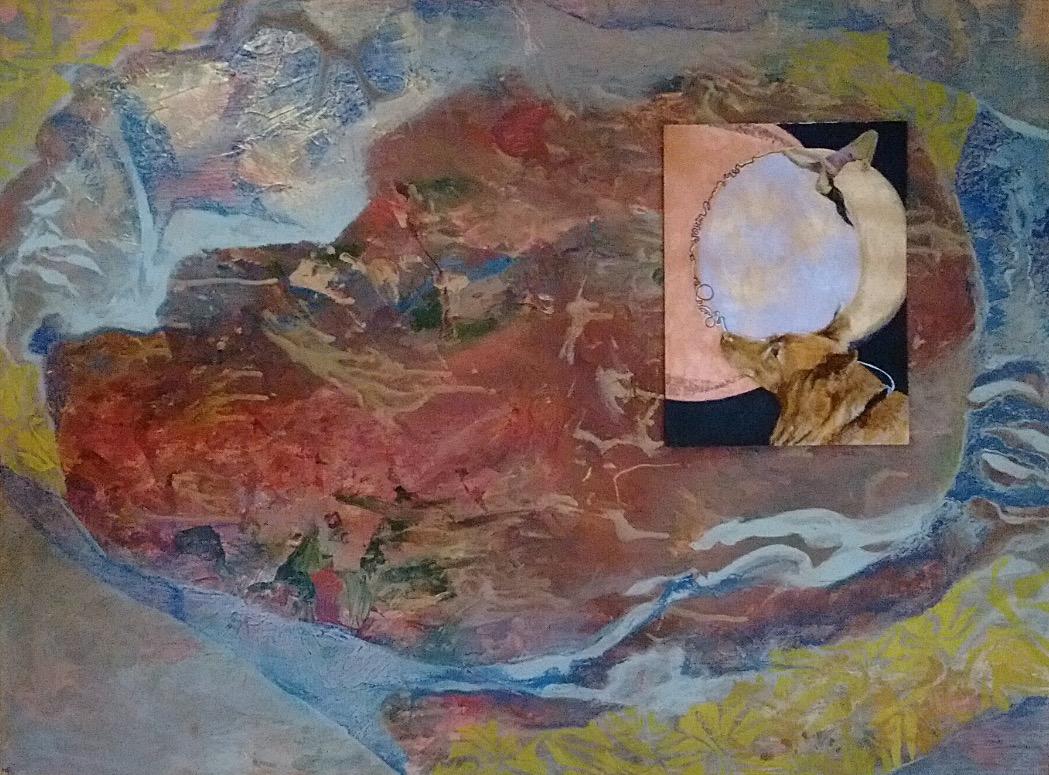 Copper Moon Leash Framed on Geode Heart_LoLo_edited