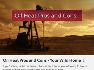 Heating Oil Pros and Cons