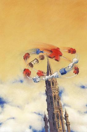 Affiche pour la seconde édition du Brussel Game Festival