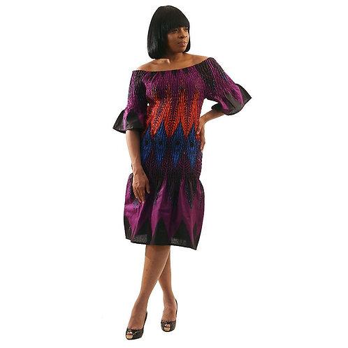 Elastic Peacock Dress
