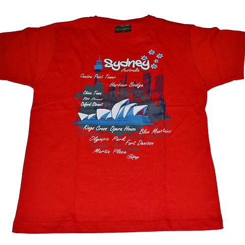Unisex Souvenir T-shirt 100% Cotton Australia Sydney Harbour Bridge Opera House