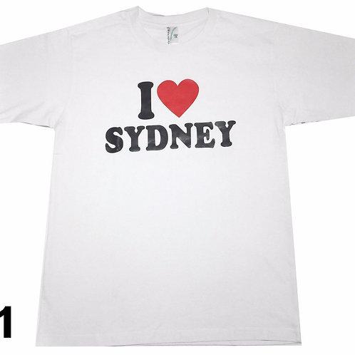 Unisex Souvenir T-shirt 100% cotton Australia I Love Sydney