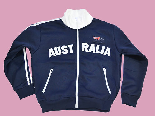 Adult Australia Au Flag Zip-Up Jumper (Pre-order)