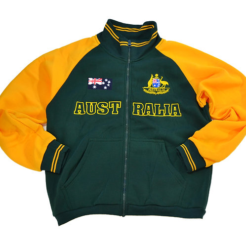 Adult Australia Green and Yellow  Flag Zip-Up Jumper