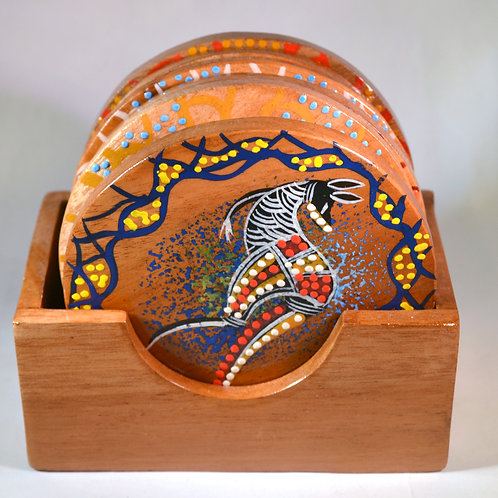 Aboriginal Coaster Set (6 pieces) Australian Made