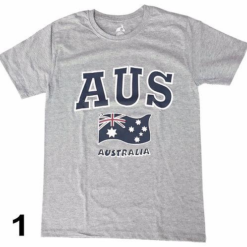 Unisex Souvenir T-shirt 100% Cotton Australia Au Flag