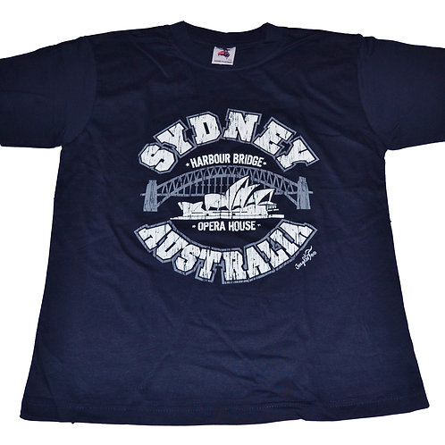 Unisex Souvenir T-shirt 100% cotton Australia Sydney Harbour Bridge Opera House