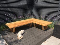 Bespoke bench made of larch