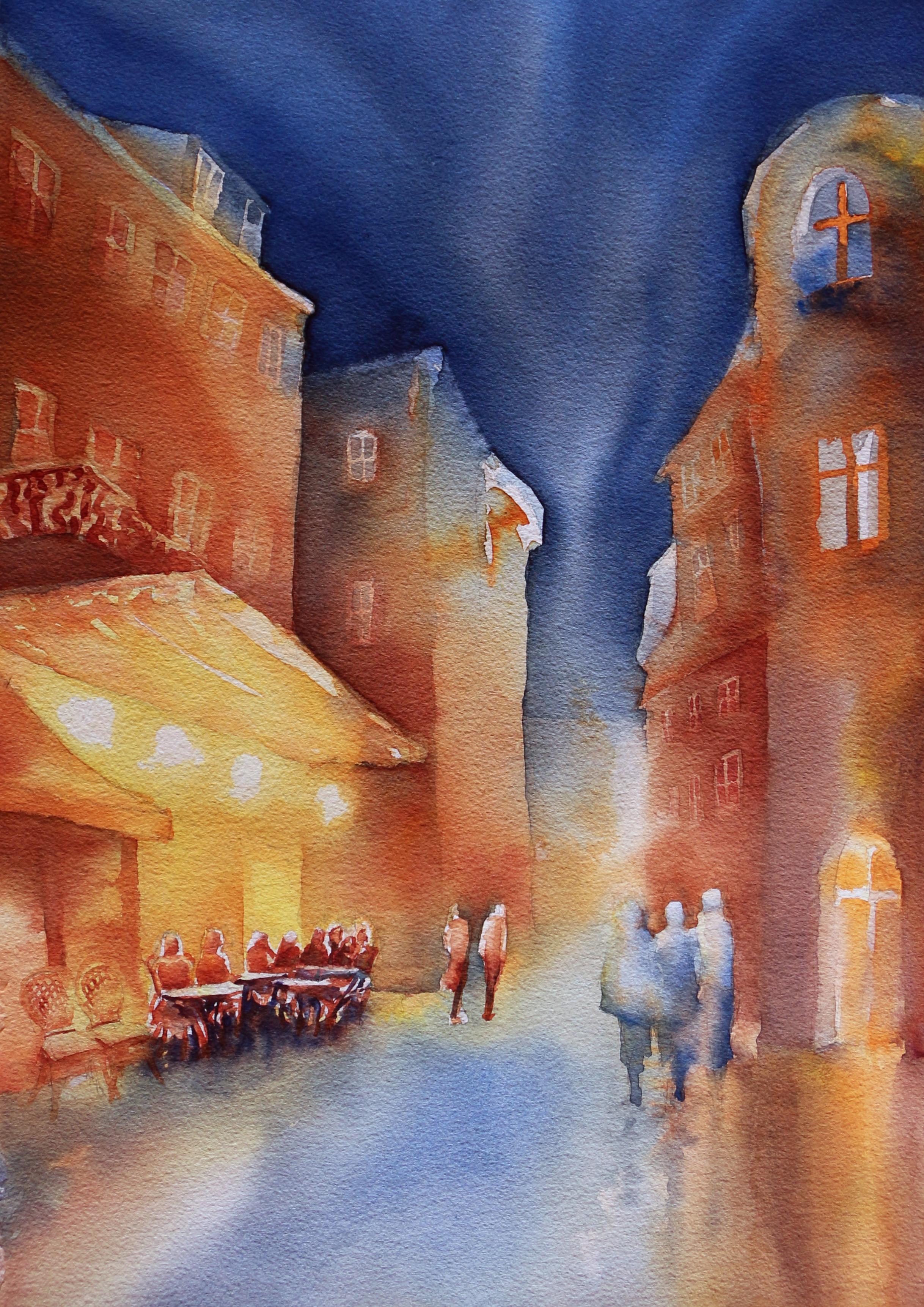 """""""Le Café"""" am Abend"""