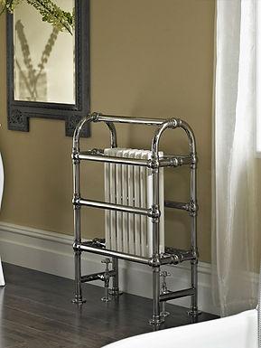 The Baroque Floor Mounted Towel Rail Brass Construction | Vogue UK