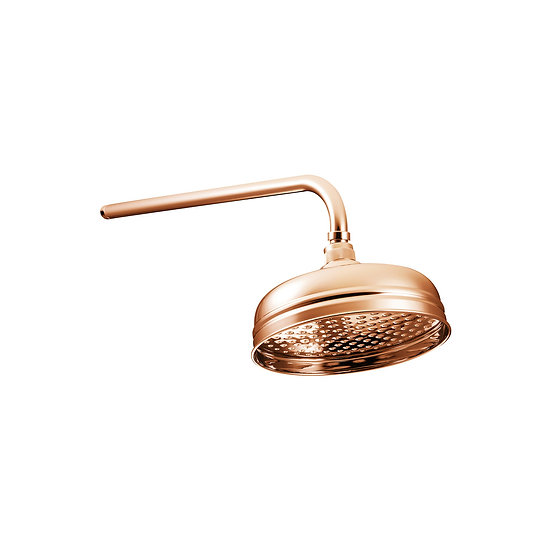 Copper Shower Rose 8"