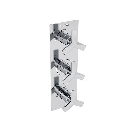Hemsby Recessed Shower Valve with Twin Stopcocks | Heritage
