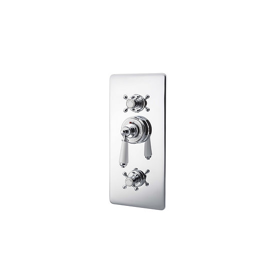 Chrome Concealed Thermostatic Shower Valve | Hurlingham