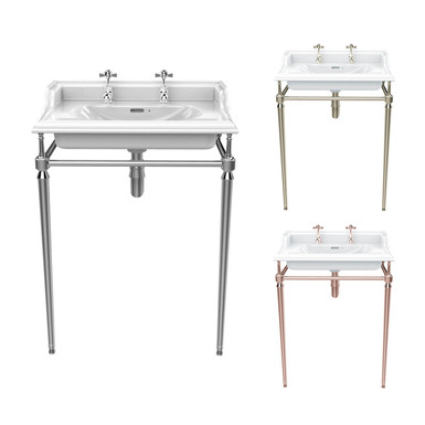 Dorchester Basin & Abington Washstand Chrome | Heritage