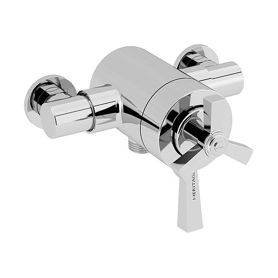 Gracechurch Exposed Shower Valve with Bottom Outlet Connection | Heritage