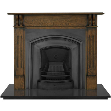 London Plate  Cast Iron Fireplace Insert | Carron