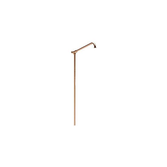 Copper Shower Arm with Riser Rail | Hurlingham