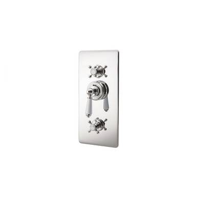 Nickel Concealed Thermostatic Valve | Hurlingham