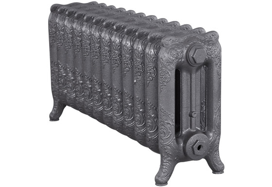 Rococo 460mm, 3 Column, 12 Sections   Foundry Grey   Carron