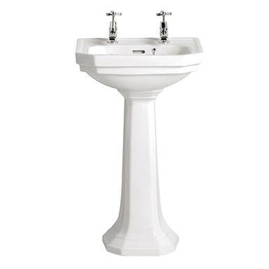 Granley Deco Cloakroom Basin & Pedestal | Heritage