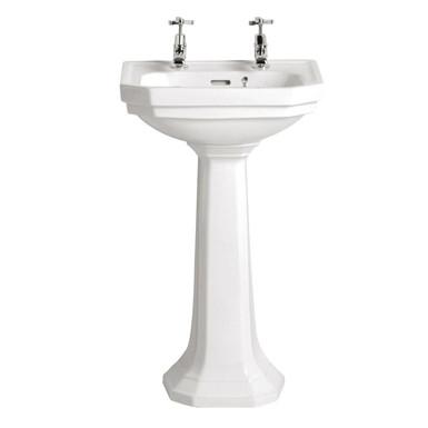 Granley Deco Cloakroom Basin & Pedestal   Heritage