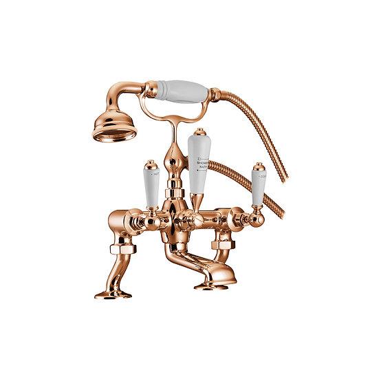 Copper Bath Mixer Taps with Cranked Legs | Hurlingham