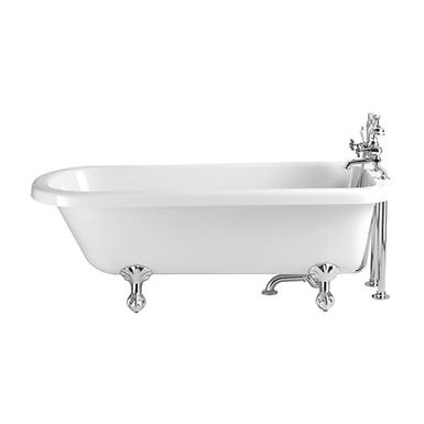 Perth Free Standing Acrylic Single Ended Roll Top Bath | Heritage