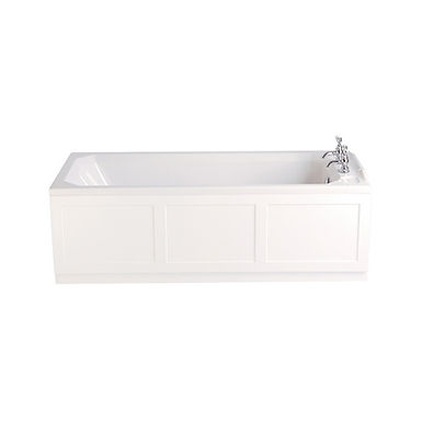Granley Acrylic Single Ended Fitted Bath   Heritage