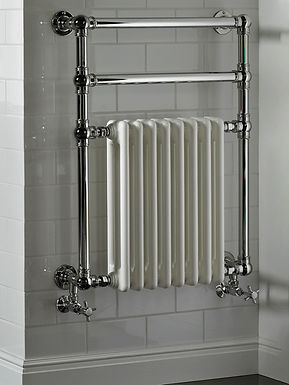 The Regency II Wall Mounted Towel Rail Brass Construction | Vogue UK