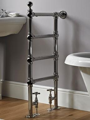 The Butler Floor & Wall Mounted Towel Rail Brass Construction | Vogue UK