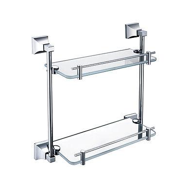 Chancery Double Glass Shelf | Heritage
