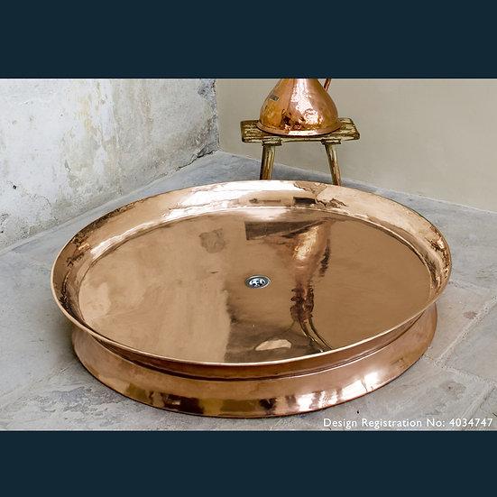 Rotunda Large Copper Shower Tray | Hurlingham