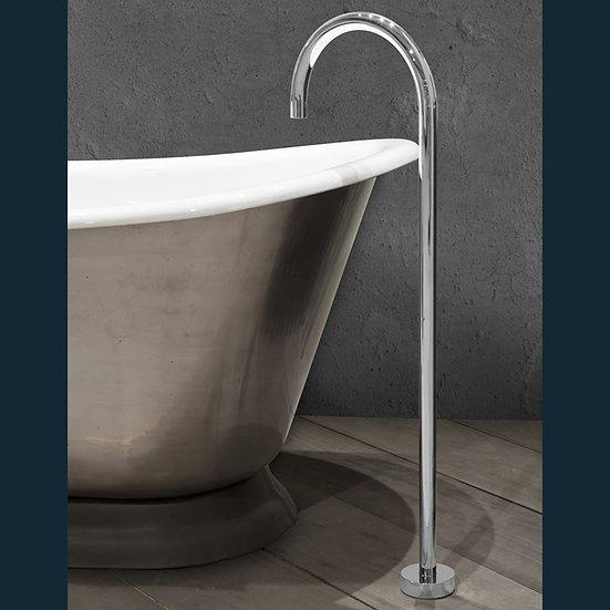 Chrome Floor Mounted Bath Spout | Hurlingham