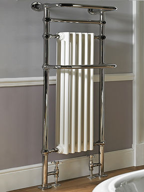 The Regency Tall Floor and Wall Mounted Towel Rail Brass Construction | Vogue UK