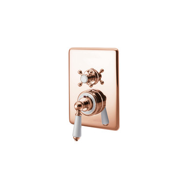 Copper Concealed Dual Control Thermostatic Shower Valve | Hurlingham