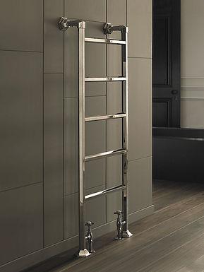The Art Moderne Floor & Wall Mounted Towel Rail Brass Construction | Vogue UK