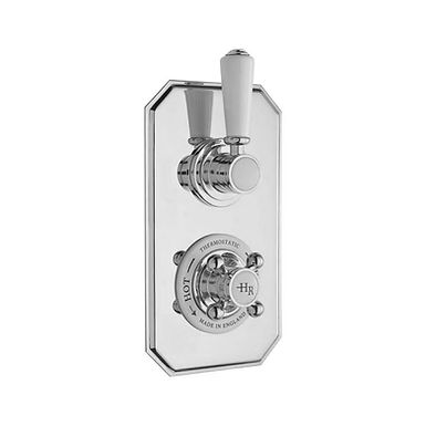 Chrome Topaz Concealed Thermostatic Twin Valve | Hudson Reed